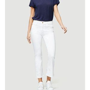 Frame Le crop mini boot white denim jeans 25 26